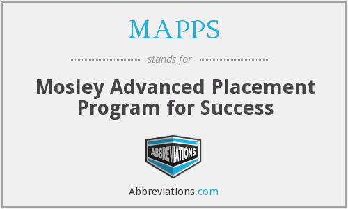 What does MAPPS stand for?