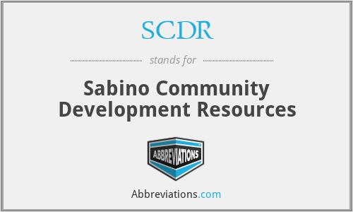 SCDR - Sabino Community Development Resources