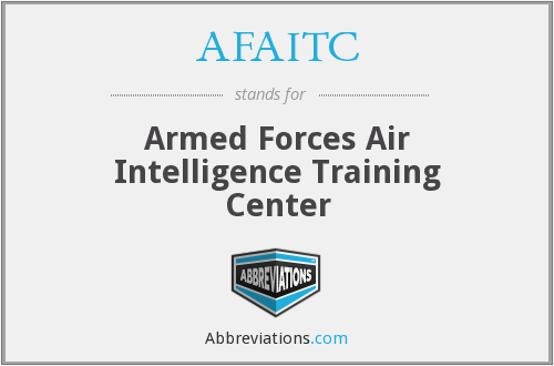AFAITC - Armed Forces Air Intelligence Training Center