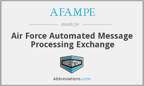 AFAMPE - Air Force Automated Message Processing Exchange
