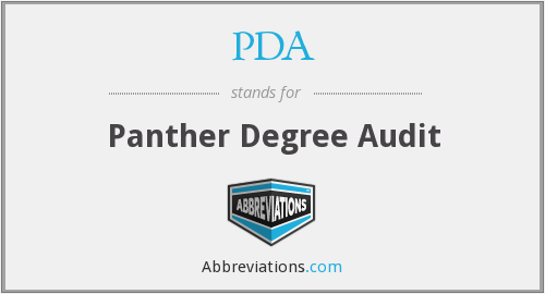PDA - Panther Degree Audit