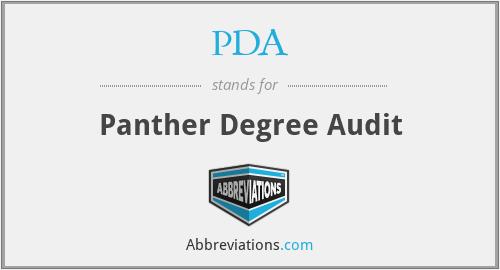 PDA - Panther Degree Audit