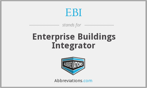 EBI - Enterprise Buildings Integrator