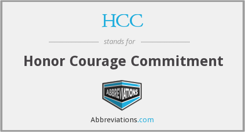 HCC - Honor Courage Commitment