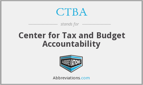 CTBA - Center for Tax and Budget Accountability