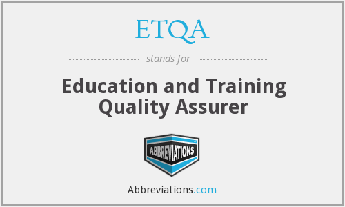 What does ETQA stand for?