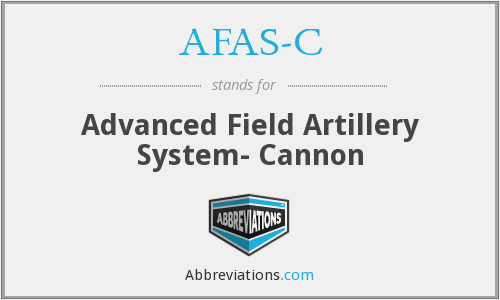AFAS-C - Advanced Field Artillery System- Cannon