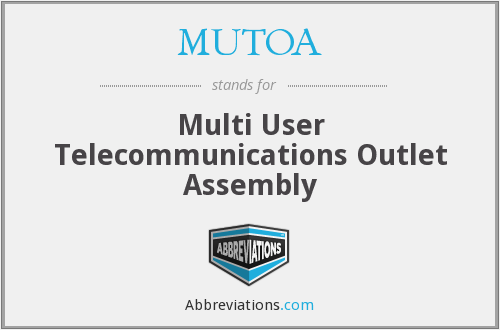 MUTOA - Multi User Telecommunications Outlet Assembly