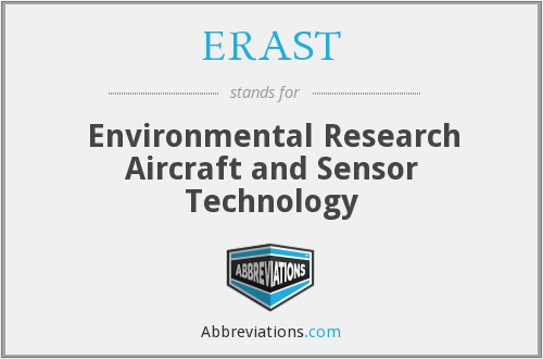 What does ERAST stand for?