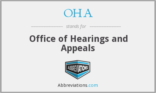 OHA - Office of Hearings and Appeals