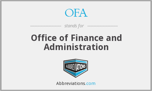 OFA - Office of Finance and Administration