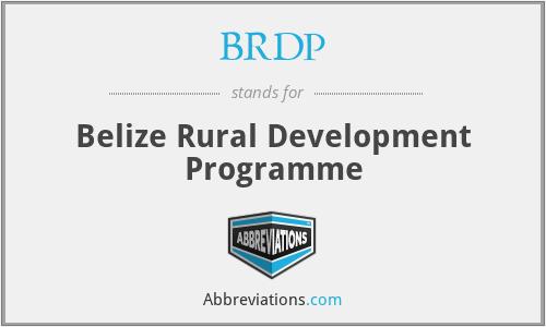 BRDP - Belize Rural Development Programme