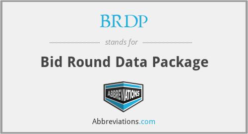 BRDP - Bid Round Data Package