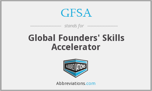 GFSA - Global Founders' Skills Accelerator