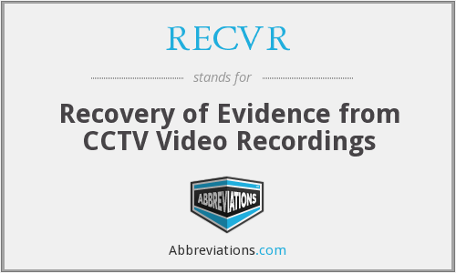 What does RECVR stand for?