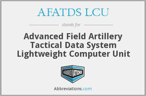 What does AFATDS LCU stand for?
