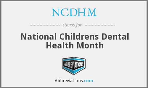 What does NCDHM stand for?