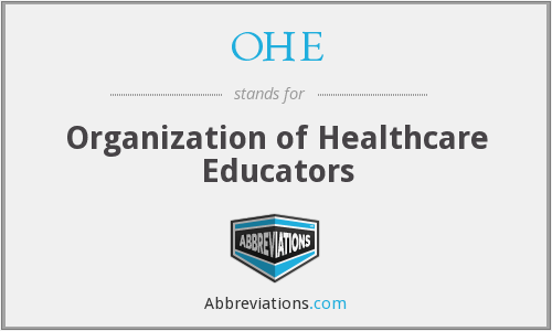 OHE - Organization of Healthcare Educators