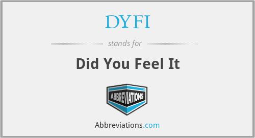 DYFI - Did You Feel It