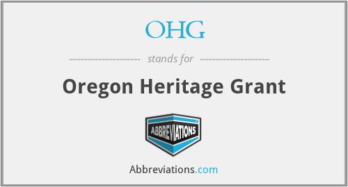 OHG - Oregon Heritage Grant