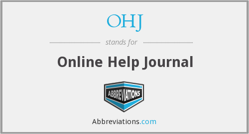 OHJ - Online Help Journal
