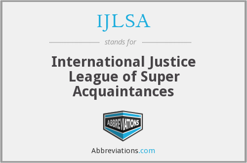What does IJLSA stand for?