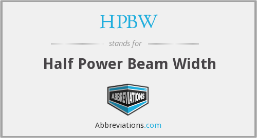 What does HPBW stand for?