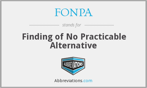 What does FONPA stand for?