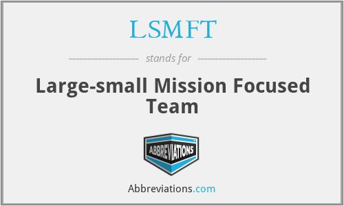 LSMFT - Large-small Mission Focused Team