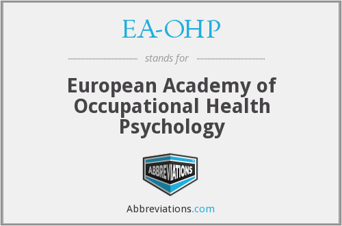 EA-OHP - European Academy of Occupational Health Psychology