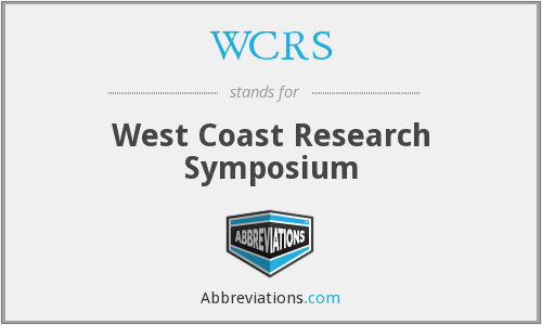 WCRS - West Coast Research Symposium