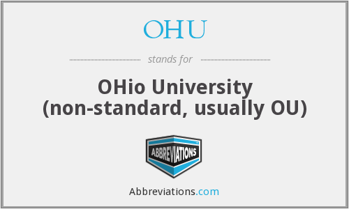 OHU - OHio University (non-standard, usually OU)