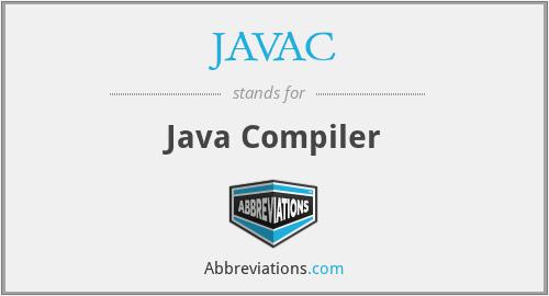 JAVAC - Java Compiler