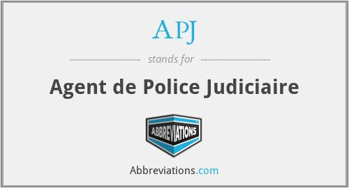 APJ - Agent de Police Judiciaire