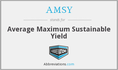 AMSY - Average Maximum Sustainable Yield