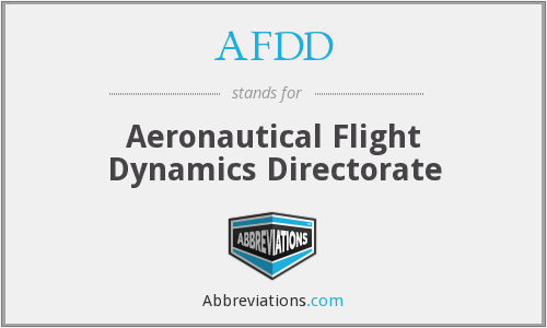 AFDD - Aero Flight Dynamics Directorate
