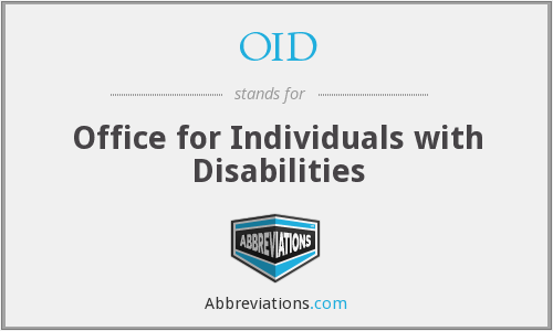 OID - Office for Individuals with Disabilities