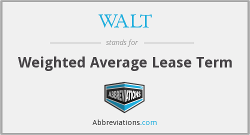 WALT - Weighted Average Lease Term