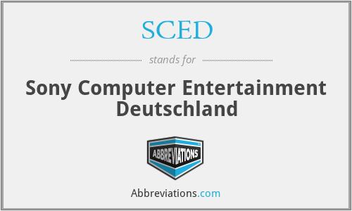 SCED - Sony Computer Entertainment Deutschland