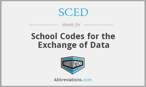 SCED - School Codes for the Exchange of Data