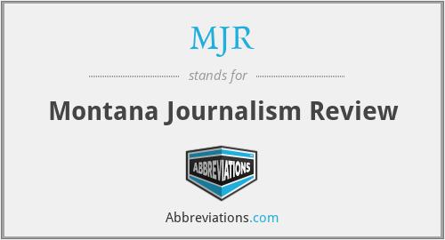 MJR - Montana Journalism Review