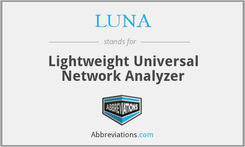 LUNA - Lightweight Universal Network Analyzer