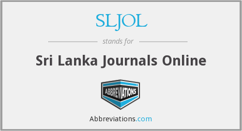 What does SLJOL stand for?