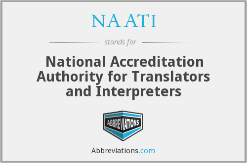 What does NAATI stand for?