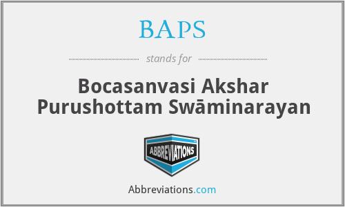 BAPS - Bocasanvasi Akshar Purushottam Swāminarayan