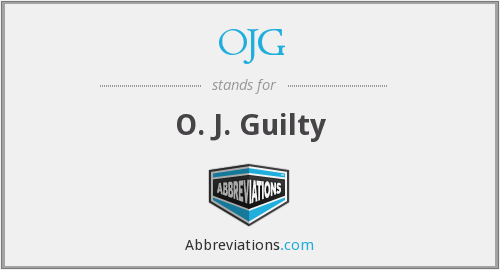 What does OJG stand for?