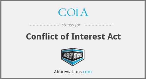 COIA - Conflict of Interest Act