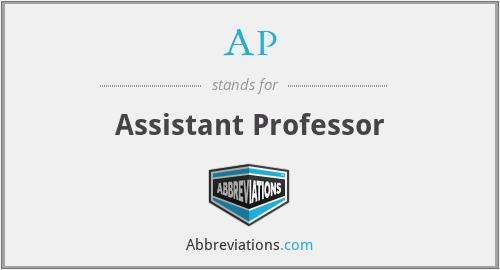 AP - Assistant Professor