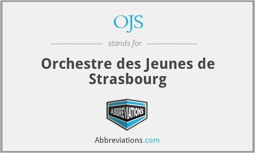 OJS - Orchestre des Jeunes de Strasbourg