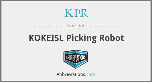 KPR - KOKEISL Picking Robot